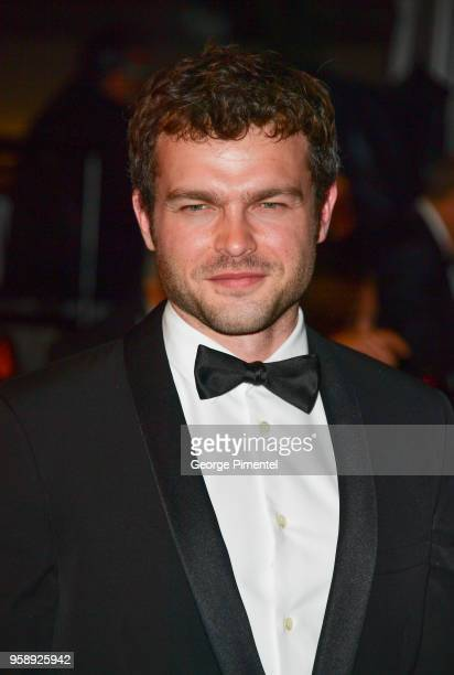 Alden Ehrenreich departs from the screening of 'Solo A Star Wars Story' during the 71st annual Cannes Film Festival at Palais des Festivals on May 15...