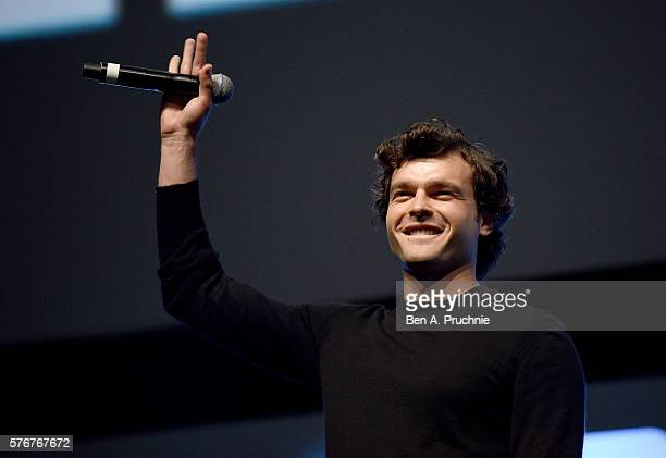 Alden Ehrenreich who will play Han Solo on stage during Future Directors Panel at the Star Wars Celebration 2016 at ExCel on July 17 2016 in London...