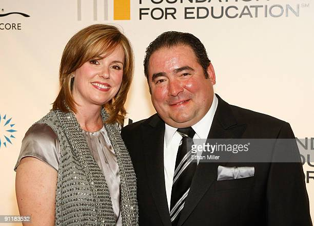 Alden Lovelace and chef Emeril Lagasse arrive at the 14th annual Andre Agassi Charitable Foundation's Grand Slam for Children benefit concert at the...