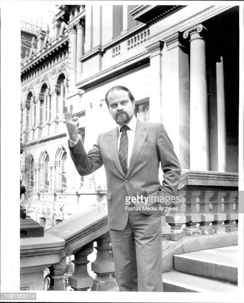 Alderman Les Morker on the side steps of the Sydney Town HallAld Les Macho Morka snapped outside the Town Hall yesterday gives an undiluted message...