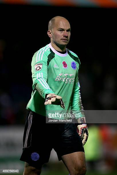 Aldershot Goalkeeper Phil Smith looks on during the FA Cup First Round Replay match between Aldershot Town and Portsmouth at The Electrical Services...