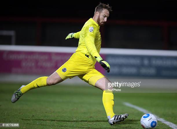 Aldershot Town's Jake Cole during Dagenham and Redbridge against Aldershot Town Vanarama National League Football at Chigwell Construction Stadium...