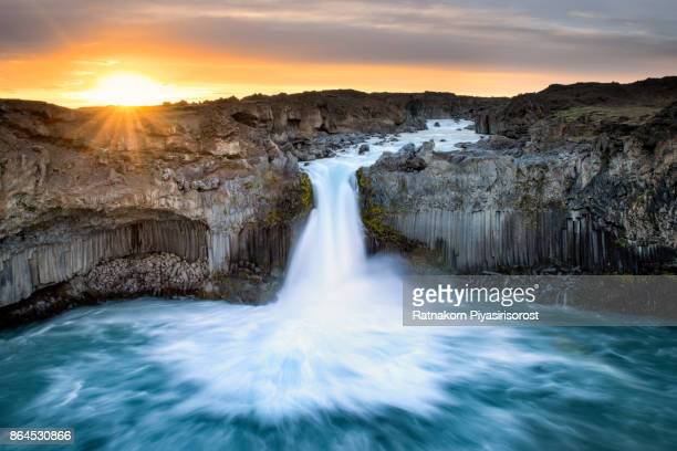 Aldeyjarfoss at Sunrise in Summer