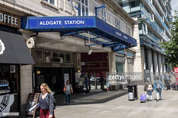 Aldgate Station in London London is the Capital city of England and the United Kingdom it is located in the south east of the country in 2017 it is...