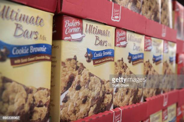 Aldi branded brownie mix is offered for sale at an Aldi grocery store on June 12 2017 in Chicago Illinois Aldi has announced plans to open 900 new...