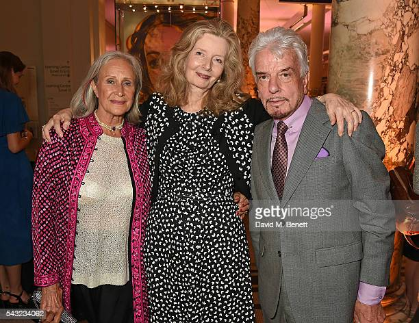 Aldine Honey Annabell Weidenfeld and Nicky Haslam attend a celebration of the Life of Lord George Weidenfeld on June 26 2016 in London England