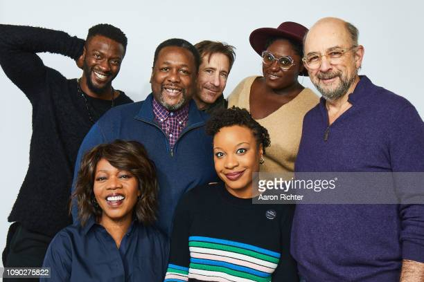 Aldis Hodge Alfre Woodard Wendell Pierce Richard Gunn Chinonye Chukwu Danielle Brooks and Richard Schiff from 'Clemency' pose for a portrait in the...