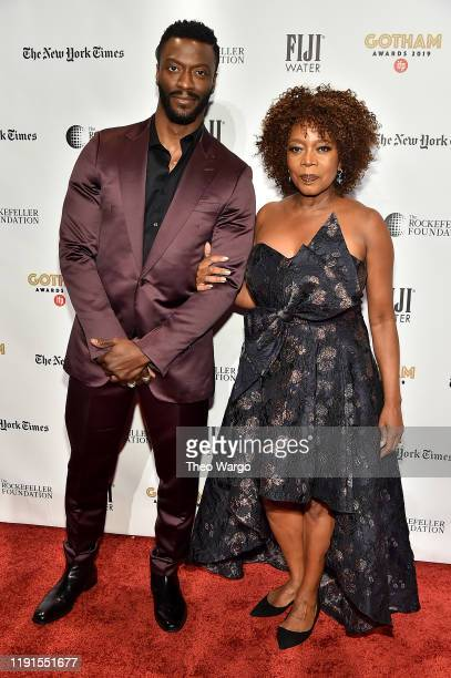 Aldis Hodge and Alfre Woodard attend the IFP's 29th Annual Gotham Independent Film Awards at Cipriani Wall Street on December 02, 2019 in New York...