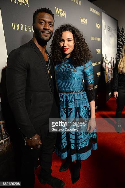 Aldis Hodge and Jurnee SmollettBell attend WGN America's Underground Season Two Party hosted by John Legend at 2017 Sundance Film Festival on January...
