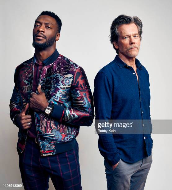 Aldis Hodge and Kevin Bacon of Showtime's 'City On A Hill' pose for a portrait during the 2019 Winter TCA at The Langham Huntington, Pasadena on...