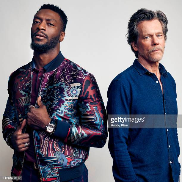 Aldis Hodge and Kevin Bacon of Showtime's 'City On A Hill' pose for a portrait during the 2019 Winter TCA at The Langham Huntington Pasadena on...