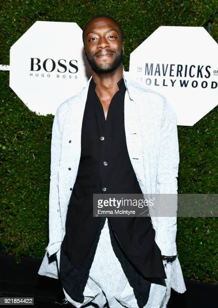 Aldis Hodge attends Esquire's 'Mavericks of Hollywood' Celebration presented by Hugo Boss on February 20 2018 in Los Angeles California