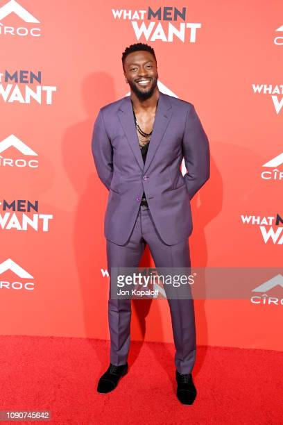 Aldis Hodge attends Paramount Pictures What Men Want Premiere at Regency Village Theatre on January 28 2019 in Westwood California