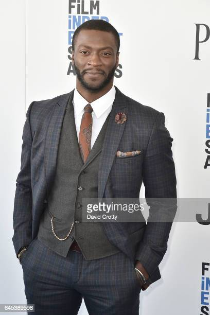Aldis Hodge attends the 2017 Film Independent Spirit Awards Arrivals on February 25 2017 in Santa Monica California