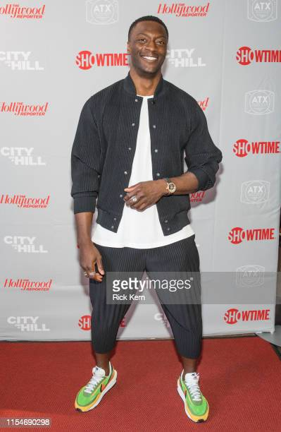 Aldis Hodge attends the closing night screening of 'City on a Hill' during the ATX Television Festival at the Paramount Theatre on June 08 2019 in...