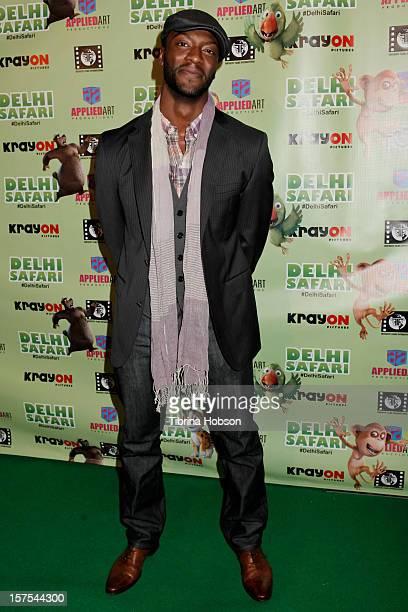 Aldis Hodge attends the Delhi Safari Los Angeles premiere at Pacific Theatre at The Grove on December 3 2012 in Los Angeles California