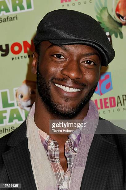 Aldis Hodge attends the Delhi Safari Los Angeles premiere at Pacific Theatre at The Grove on December 3 2012 in Los Angeles California