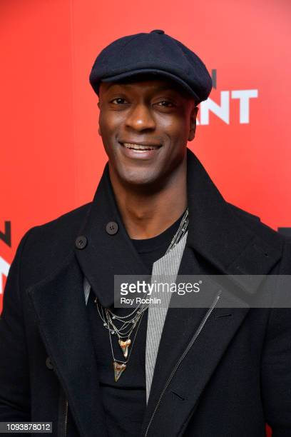 Aldis Hodge attends the New York special screening of Paramount Pictures' film 'What Men Want' at Crosby Street Hotel on February 4 2019 in New York...