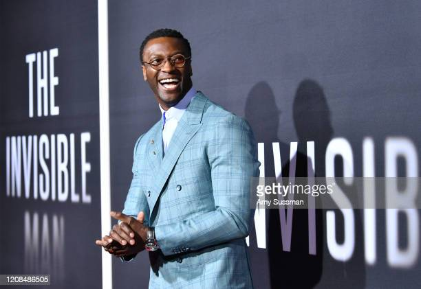 Aldis Hodge attends the Premiere of Universal Pictures' The Invisible Man at TCL Chinese Theatre on February 24 2020 in Hollywood California