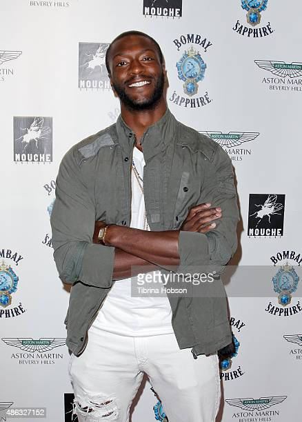 Aldis Hodge attends the VIP opening reception for 'DisEase' an evening of fine art with Billy Morrison at Mouche Gallery on September 2 2015 in...