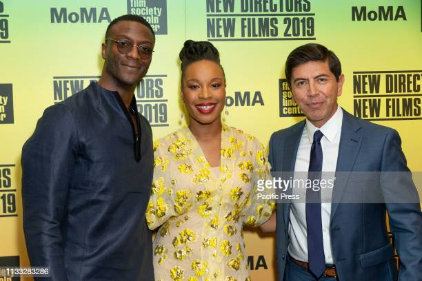 Aldis Hodge Chinonye Chukwu Alex Castillo attend screening of Clemency during Opening Night New Directors New Films 2019 festival at Museum of Modern...