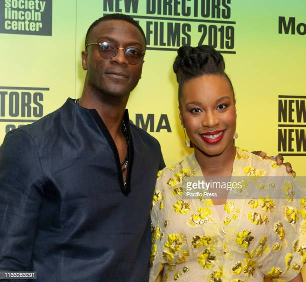 Aldis Hodge Chinonye Chukwu attend screening of Clemency during Opening Night New Directors New Films 2019 festival at Museum of Modern Art