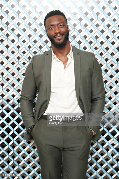 Aldis Hodge poses for a photo backstage at the Discovery Award Presentation and Clemency QA during the 22nd SCAD Savannah Film Festival on October 28...