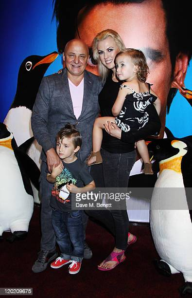Aldo and Nikki Zilli attend a special screening of Mr Poppers Penguins at The Empire Leicester Square on July 23 2011 in London England