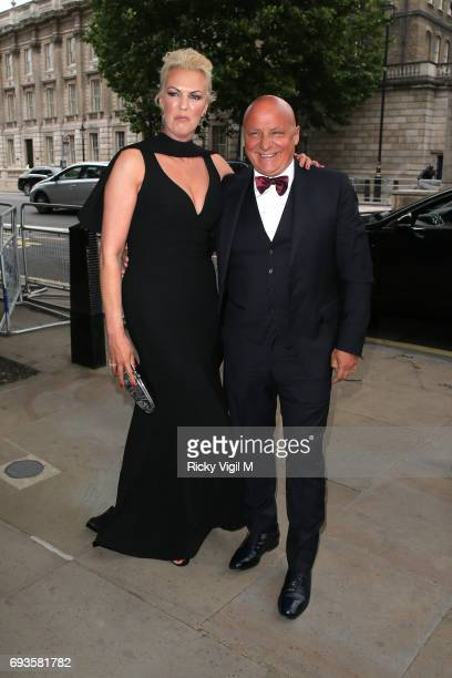 Aldo and Nikki Zilli attend Together for Short Lives Midsummer Ball at Banqueting House on June 7 2017 in London England