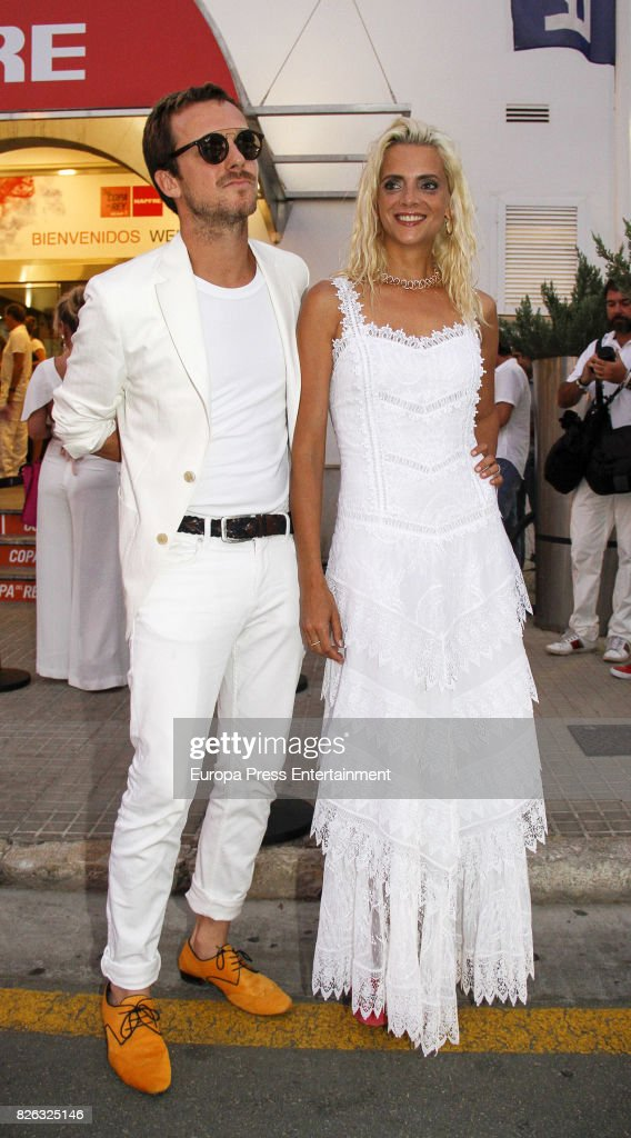 Aldo Comas and his wife Macarena Gomez attend dinner during the 36th Copa Del Rey Mafre Sailing Cup on August 3, 2017 in Palma de Mallorca, Spain.