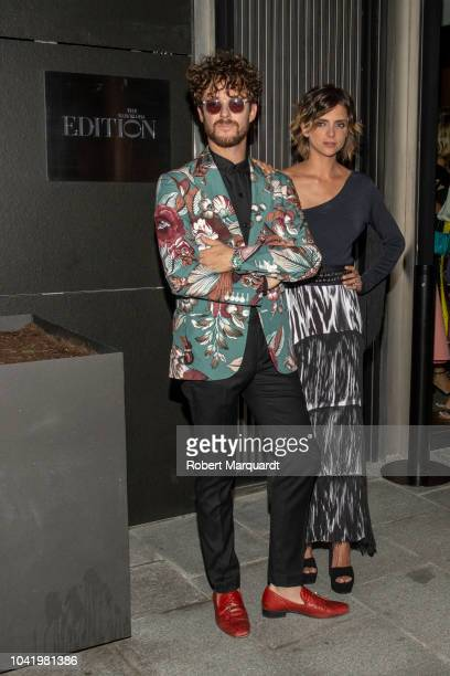 Aldo Comas and Macrena Gomez pose during a photocall for the opening of 'The Barcelona Edition' hotel on September 20 2018 in Barcelona Spain