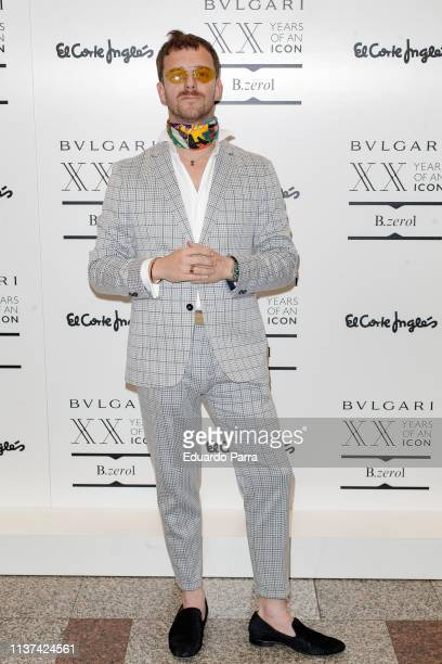 Aldo Comas attends the 'Bvlgari new space opening' photocall at El Corte Ingles store on March 21 2019 in Madrid Spain