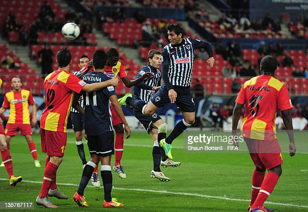 Aldo De Nigris of Club de Futbol Monterrey scores during the FIFA Club World Cup 5th Place match between Club de Futbol Monterrey and Esperance...