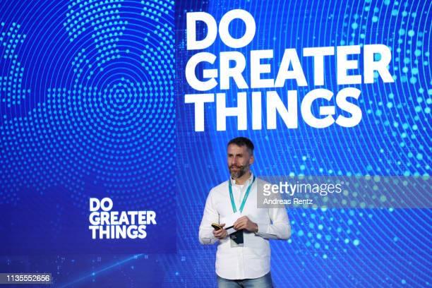 Aldo del Bo, Head of Global Partnerships and Sponsorships of Kaspersky Lab speaks during the Kaspersky Lab European Strategic Session on March 11,...