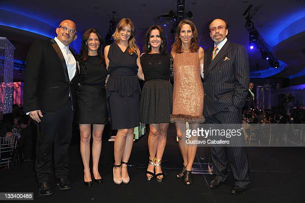 Aldo Dell Anno guest Sara Colombo Alina Shriver Christina Lindemann and Bernie Yuman attend the Best Buddies Bash during the Fifteenth Annual Best...