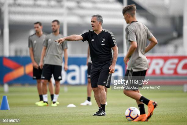 Aldo Dolcetti during a Juventus training session at Juventus Training Center on July 10 2018 in Turin Italy