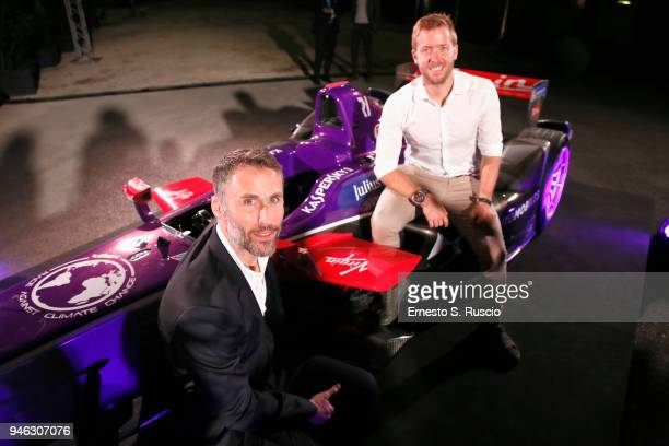 Aldo Fucelli Pessot del Bo' and Sam Bird attend Racing Goes Green an event organized by Kaspersky Lab Official Sponsor of DS Virgin Racing Team to...