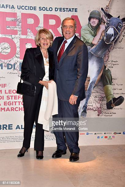 Aldo Grasso and Maria Grasso walks a red carpet for 'In Guerra Per Amore' on October 12 2016 in Rome Italy