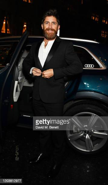 Aldo Kane arrives in an Audi at the GQ Car Awards at Corinthia London on February 03 2020 in London England