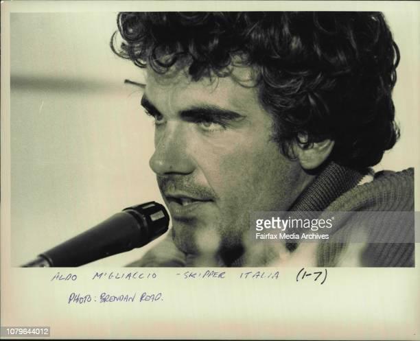 Aldo MiGliaccio Skipper Italia January 20 1987