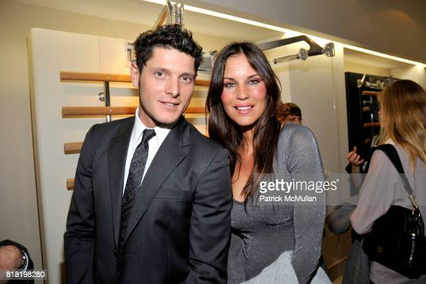 Aldo Montano and Antonella Mosetti attend Technogym US Showroom Launch Event at 70 Greene St on November 16 2010 in New York City