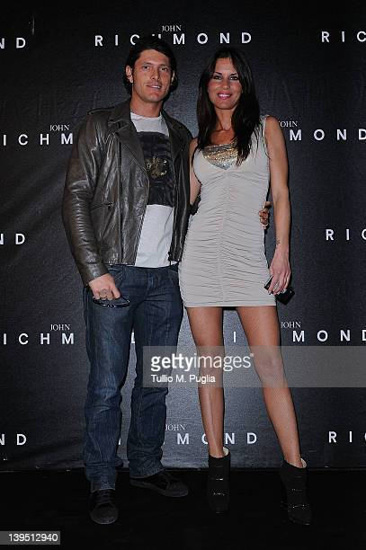 Aldo Montano and Antonella Mosetti attend the John Richmond Autumn/Winter 2012/2013 fashion show as part of Milan Womenswear Fashion Week on February...