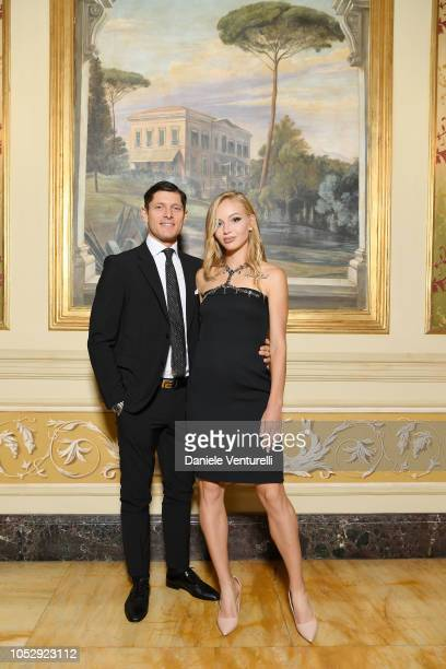 Aldo Montano and Olga Plachina attends the Telethon Gala during the 13th Rome Film Fest at Villa Miani on October 19 2018 in Rome Italy