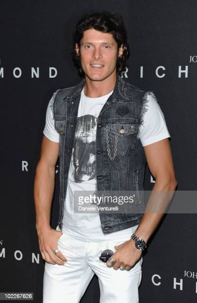 Aldo Montano attends the John Richmond Milan Menswear Spring/Summer 2011 show on June 21 2010 in Milan Italy