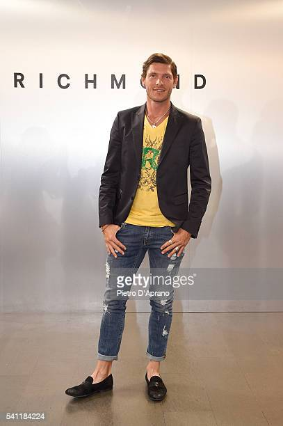 Aldo Montano attends the Richmond show during Milan Men's Fashion Week SS17 on June 18 2016 in Milan Italy