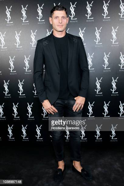 Aldo Montano attends 'Ysl Beauty Club Milan' during Milan Fashion Week Spring/Summer 2019 on September 23 2018 in Milan Italy