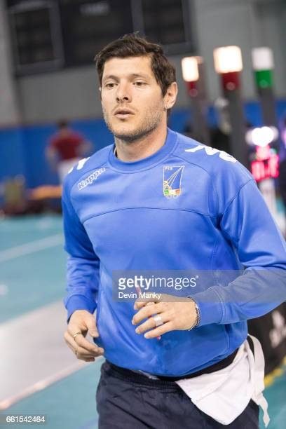Aldo Montano of Italy warms up during the preliminary rounds of the SK Telecom Seoul Sabre Grand Prix on March 31st 2017 at the SK Telecom Handball...