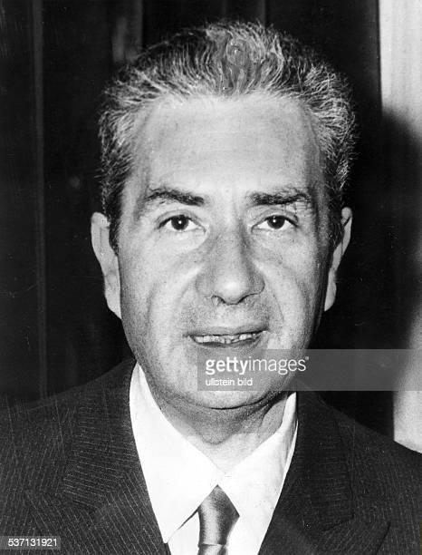 Aldo Moro Jurist Politiker Italien Ministerpräsident 19631968 entführt und ermordet durch italienische Terroristen 1978 Porträt 1971