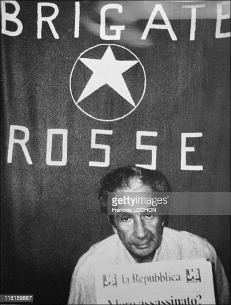 Aldo Moro prisoner of the Red Brigades in Italy in February 1979