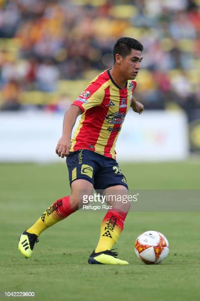 Aldo Rocha of Morelia drives the ball during the 10th round match between Morelia and Pumas UNAM as part of the Torneo Apertura 2018 Liga MX at Jose...